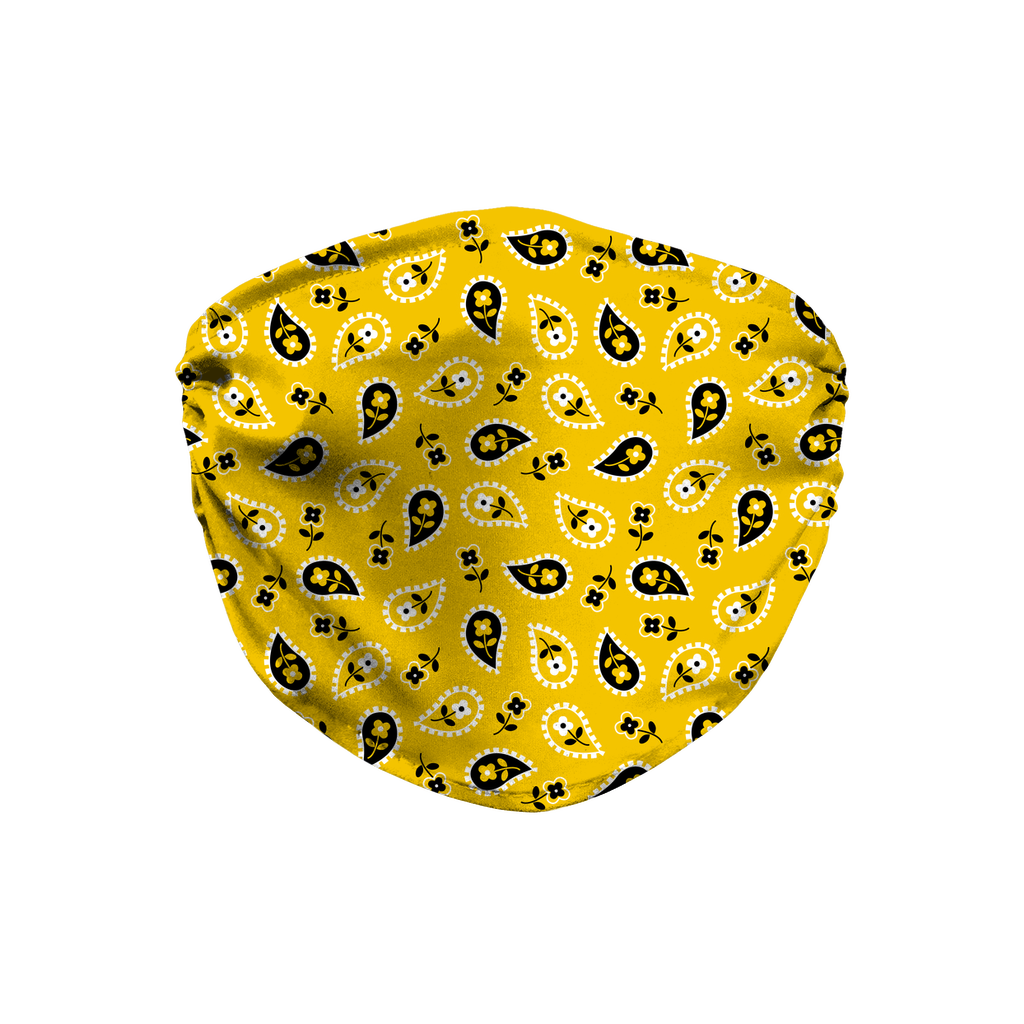 Yellow Bandana Pattern 6  Face Mask