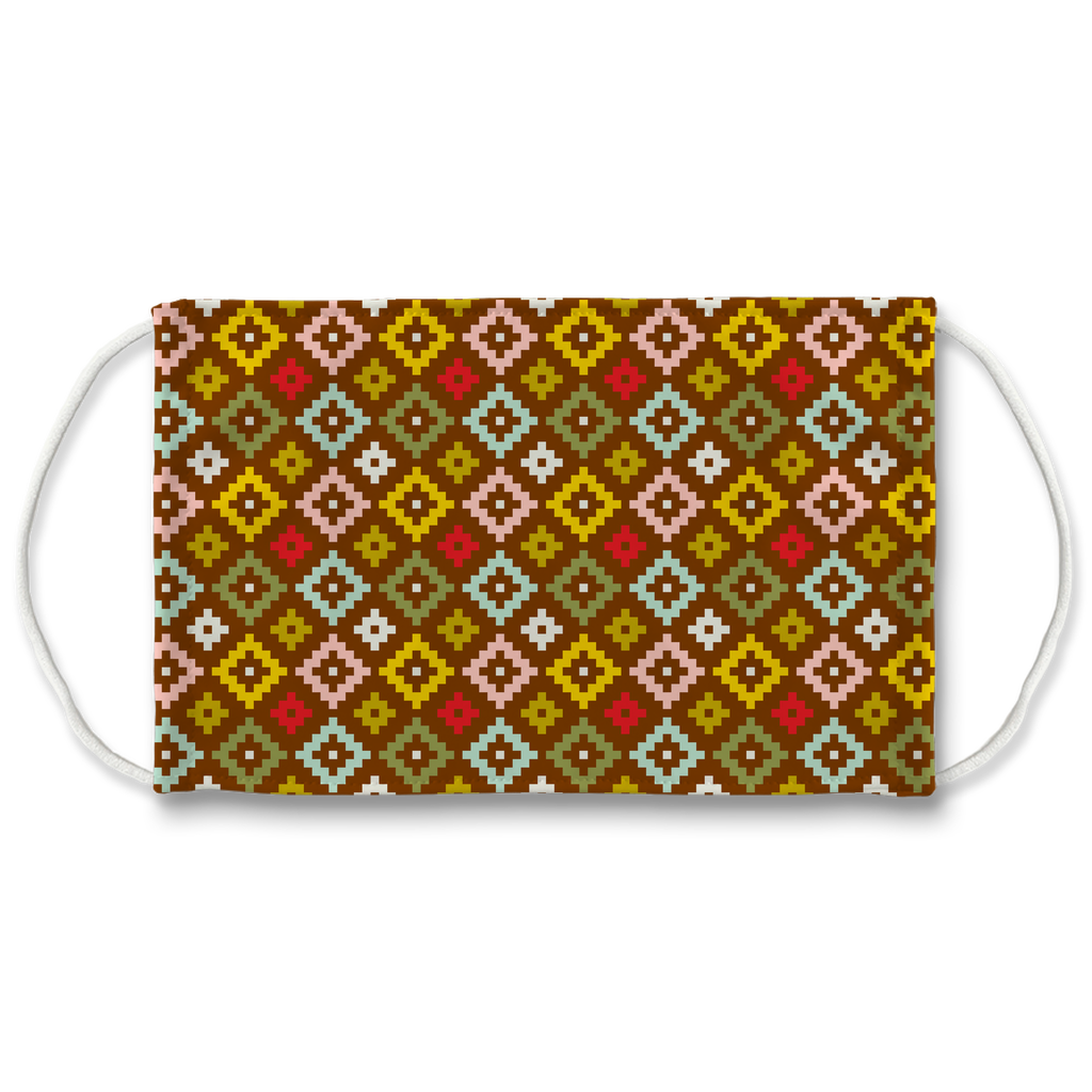 Primitive Geometric Pattern 3  Face Mask