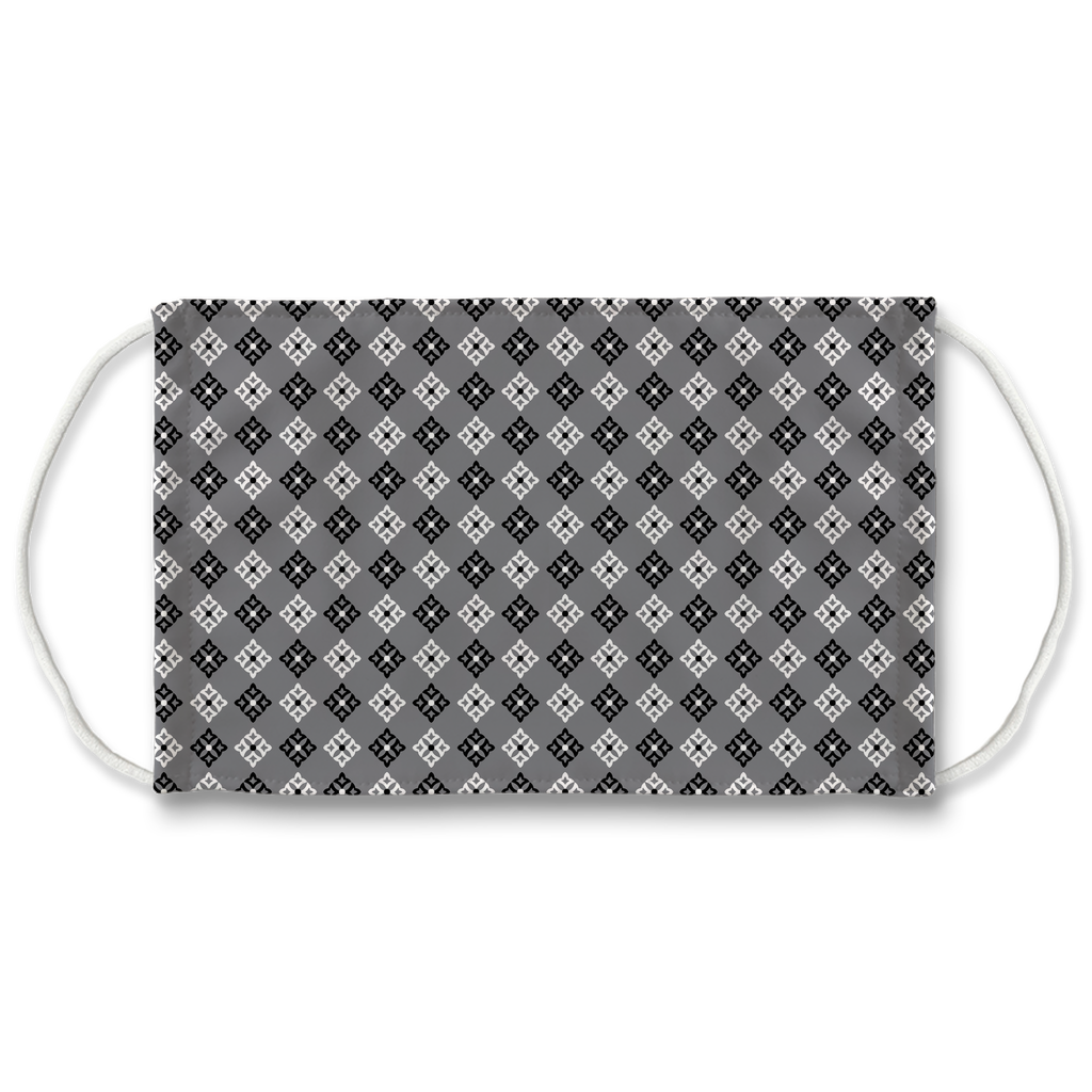 Gray Bandana Pattern 5  Face Mask
