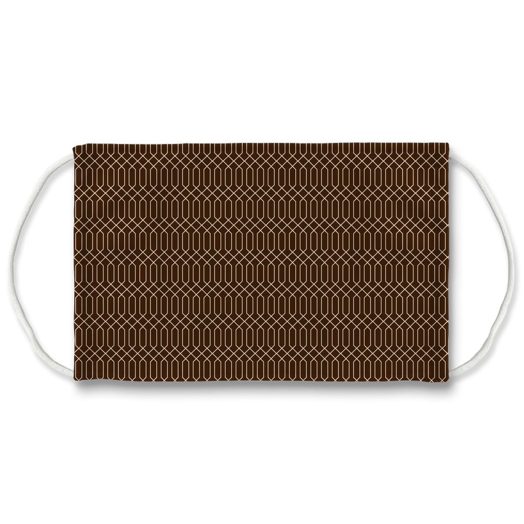Patterns Aqua Tan Brown 13  Face Mask