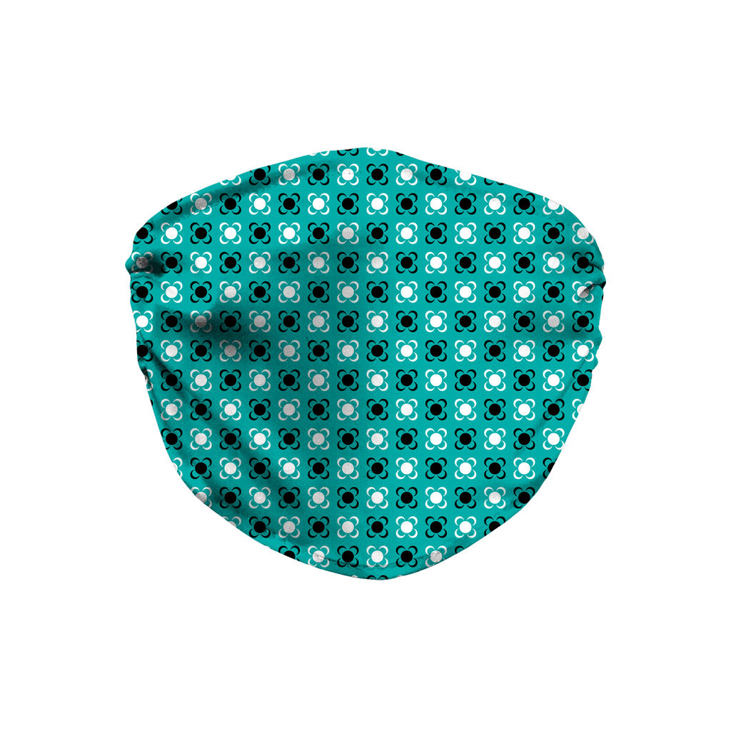 Turquoise Blue Bandana Pattern 1  Face Mask
