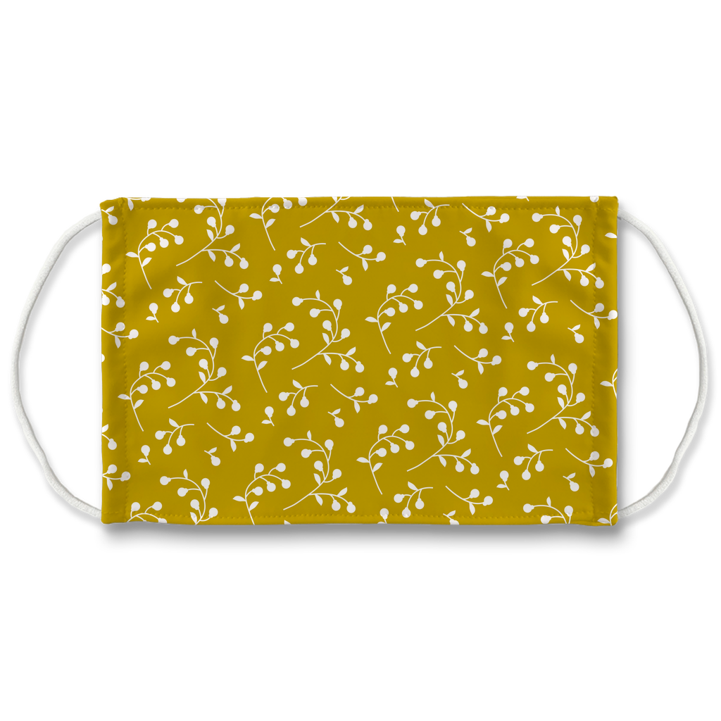 Retro Floral Pattern 4  Face Mask