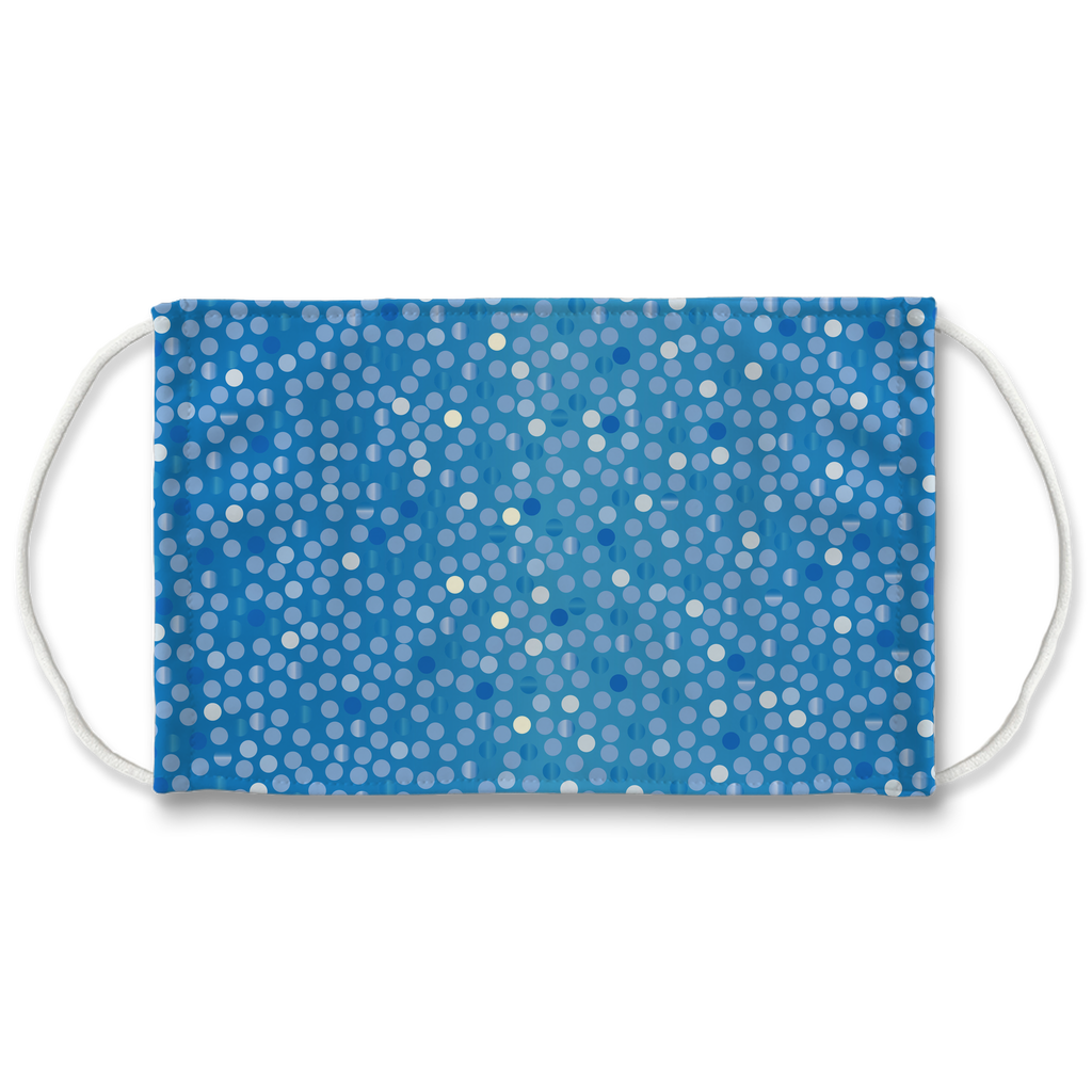 Dots Gradient Background 5  Face Mask