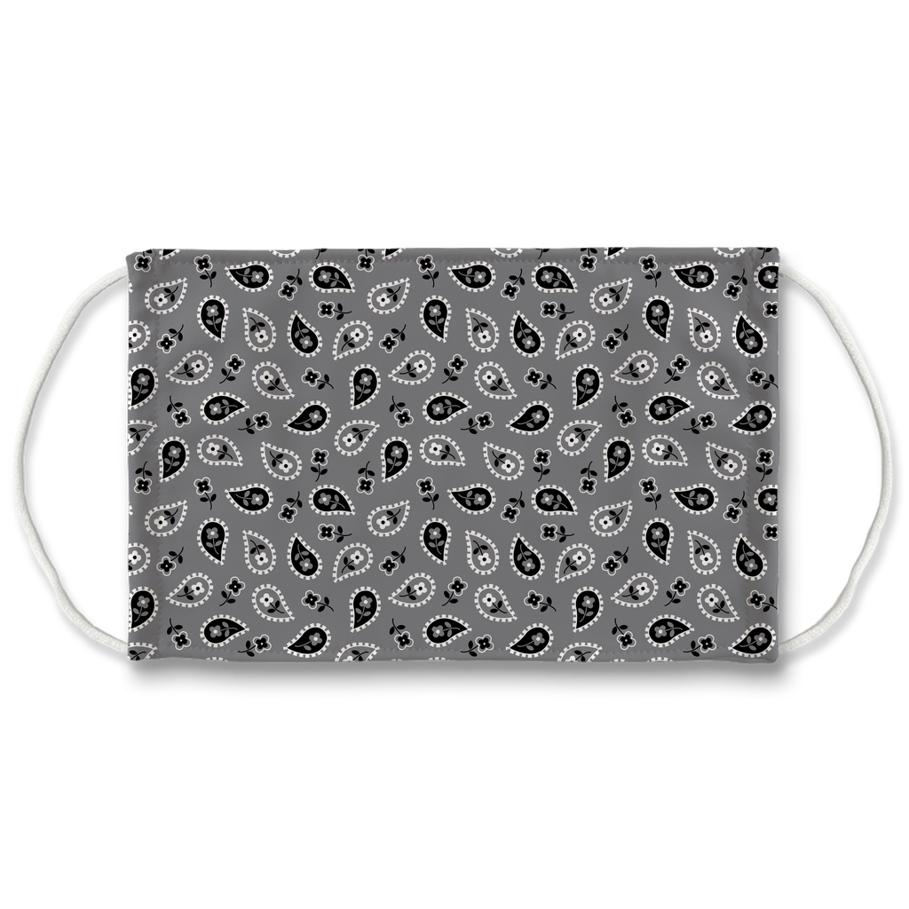 Gray Bandana Pattern 6  Face Mask