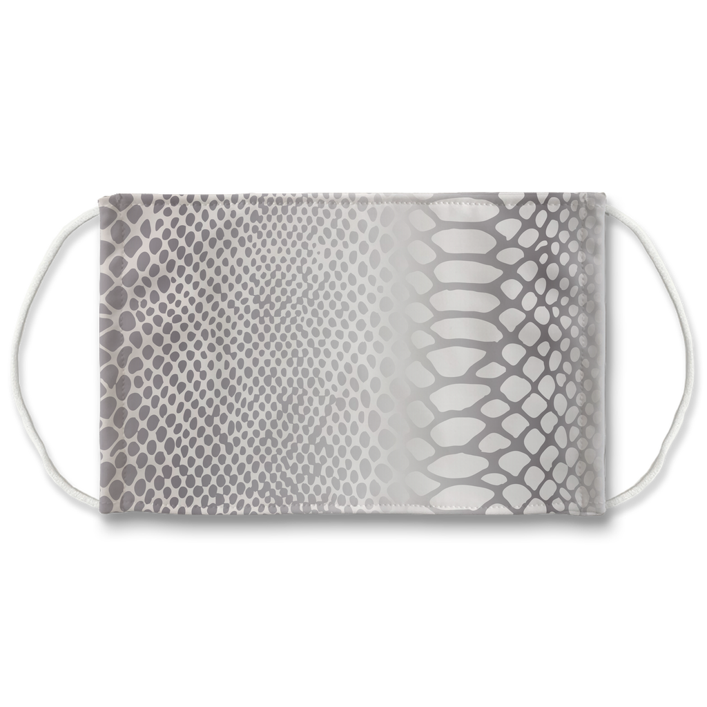 Metallic Snakeskin Texture 10  Face Mask