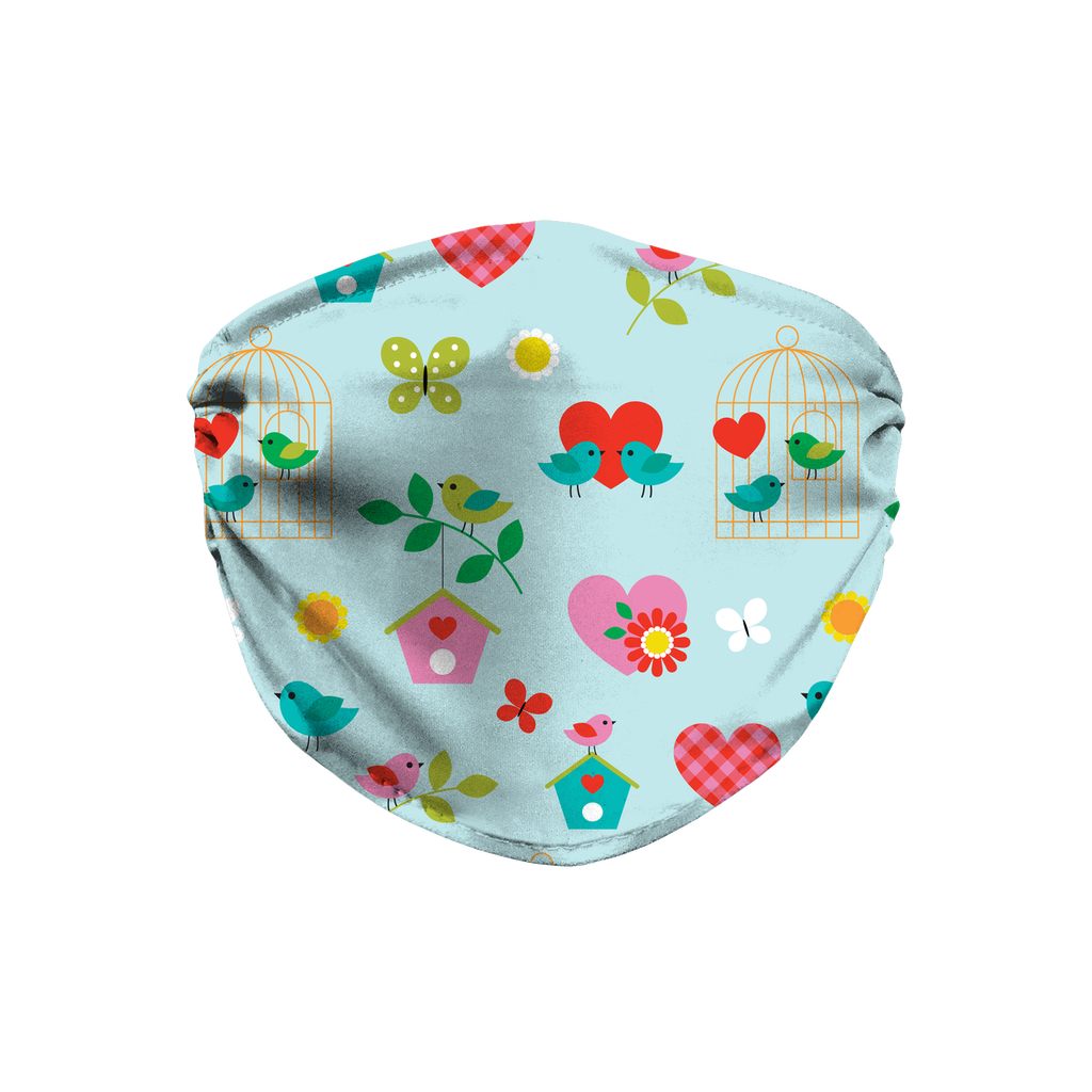 Bird Butterfly Pattern 1  Face Mask