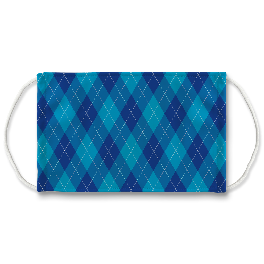 Argyle Digital Pattern 1  Face Mask