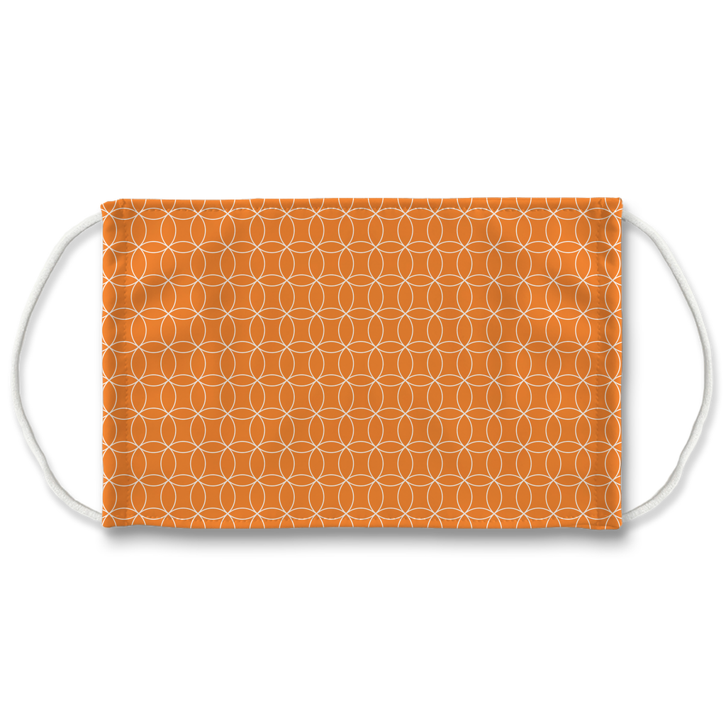 Circle Lattice Pattern 1  Face Mask