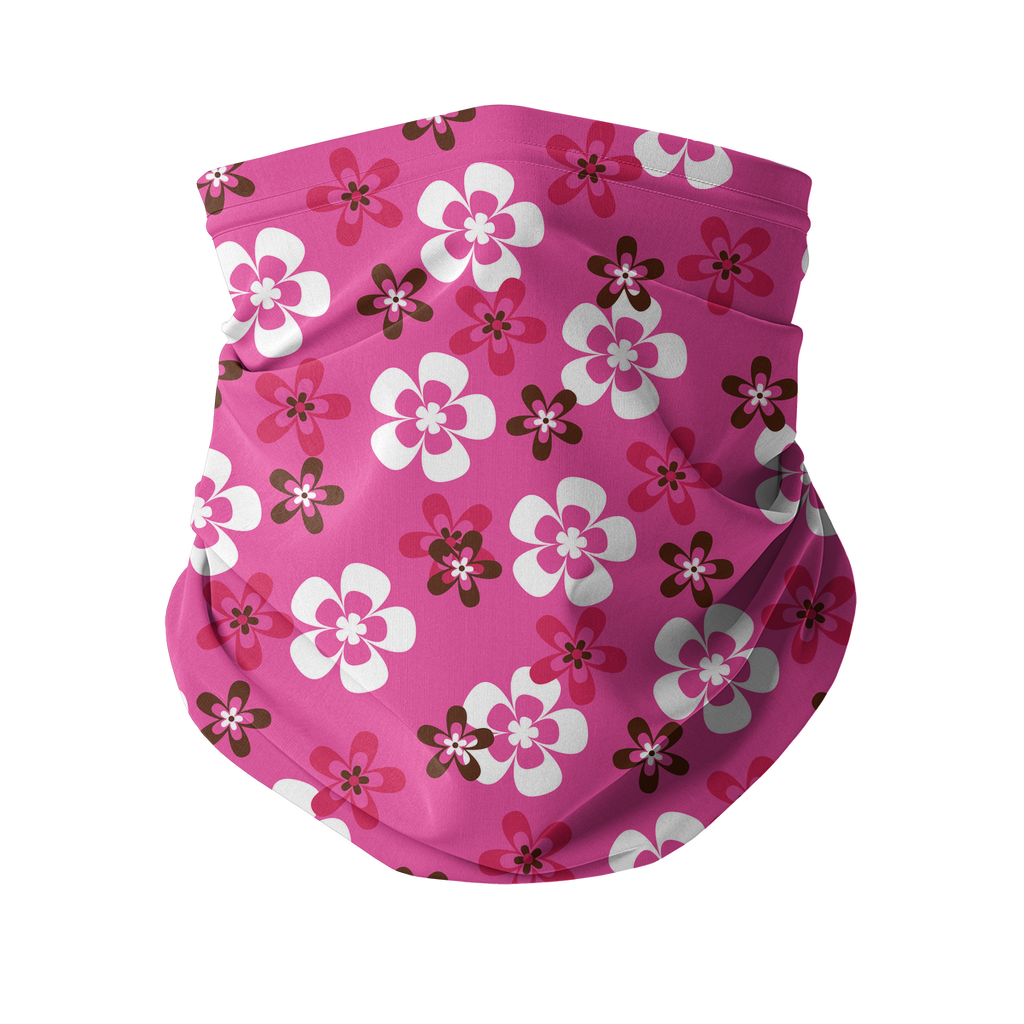 Seamless Pink Red Tropical Neck gaiter 8 Sublimation Neck Gaiter