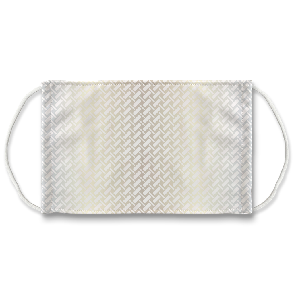 Metallic Lattice Pattern silver 5  Face Mask