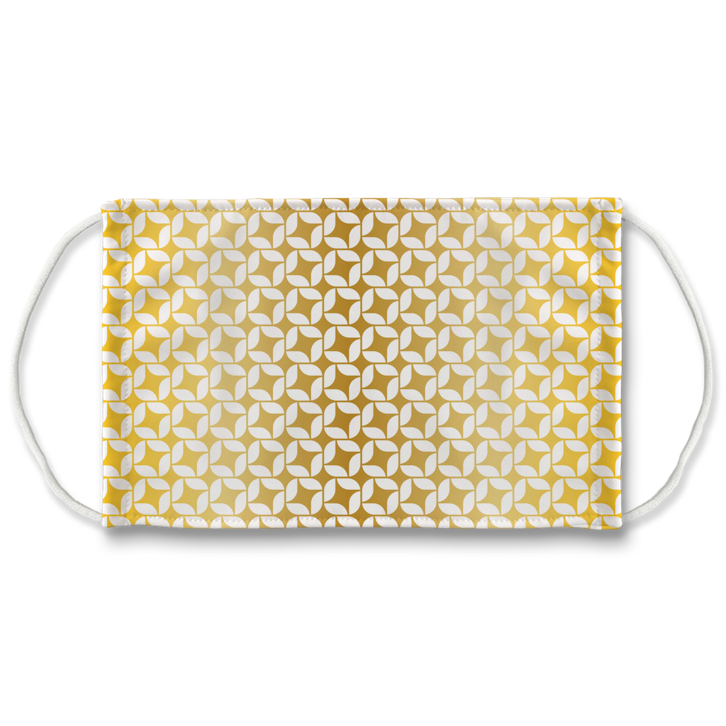 Silver Gold Pattern 8  Face Mask