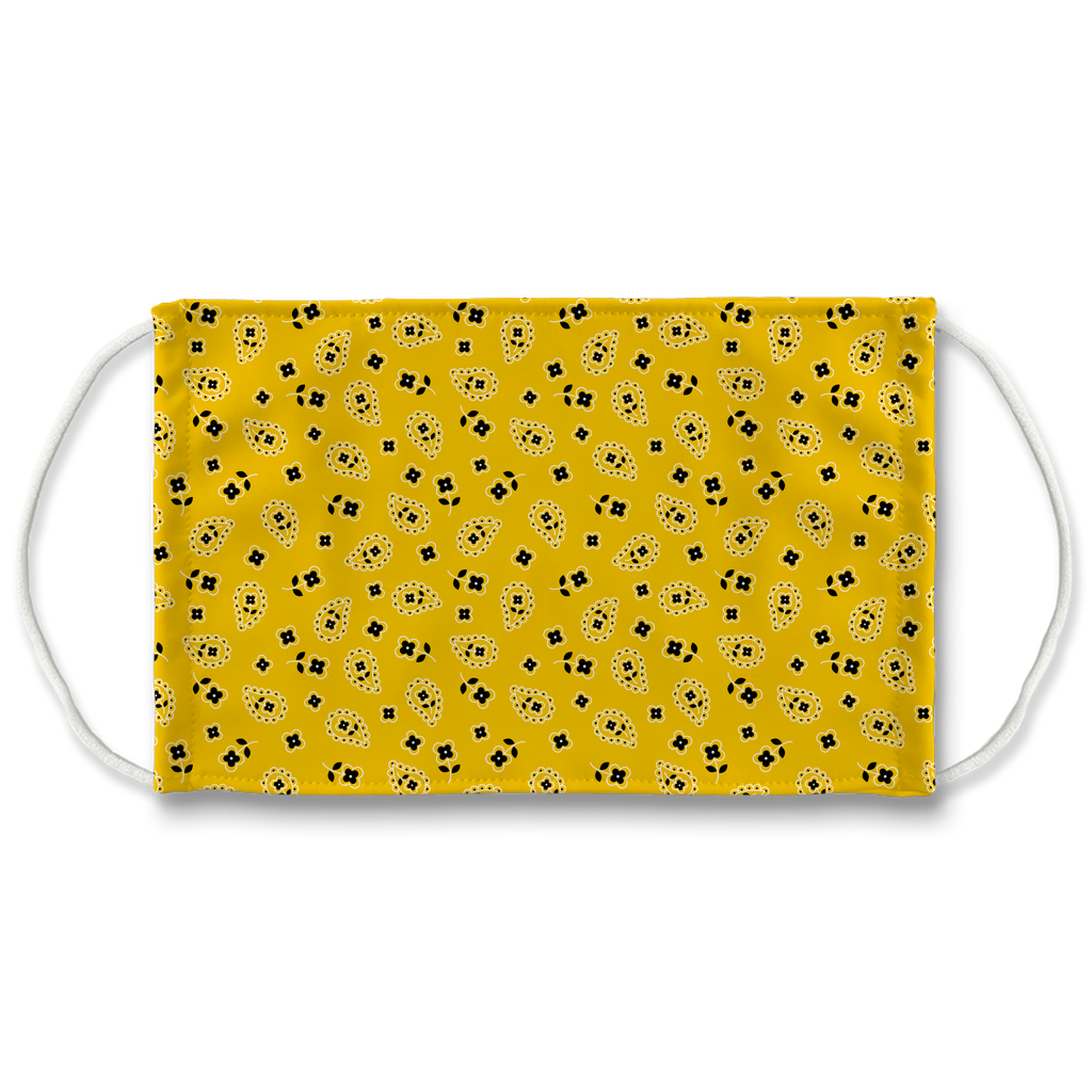 Yellow Bandana Pattern 3  Face Mask