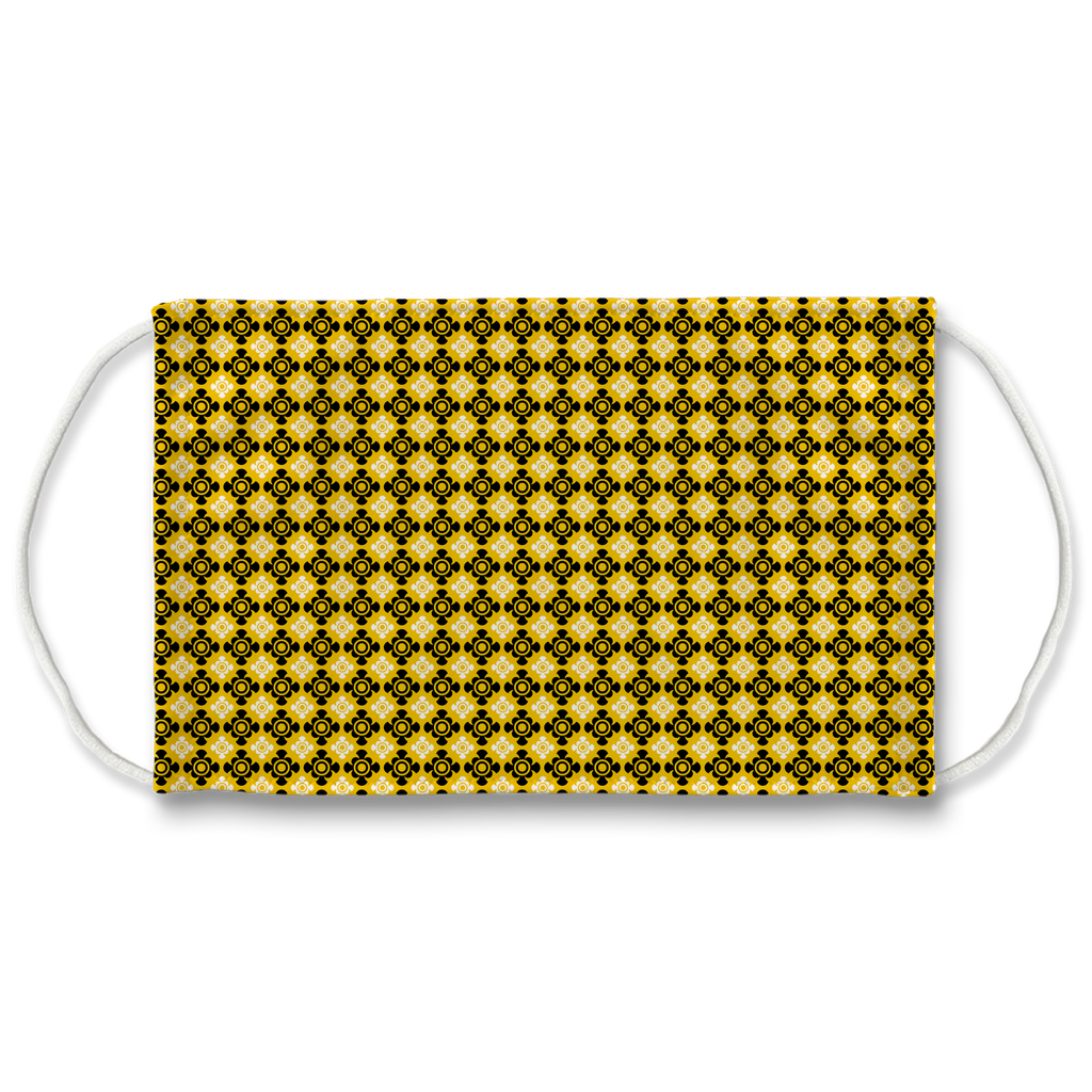 Yellow Bandana Pattern 8  Face Mask