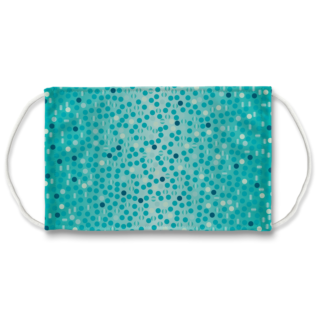 Dots Gradient Background 7  Face Mask