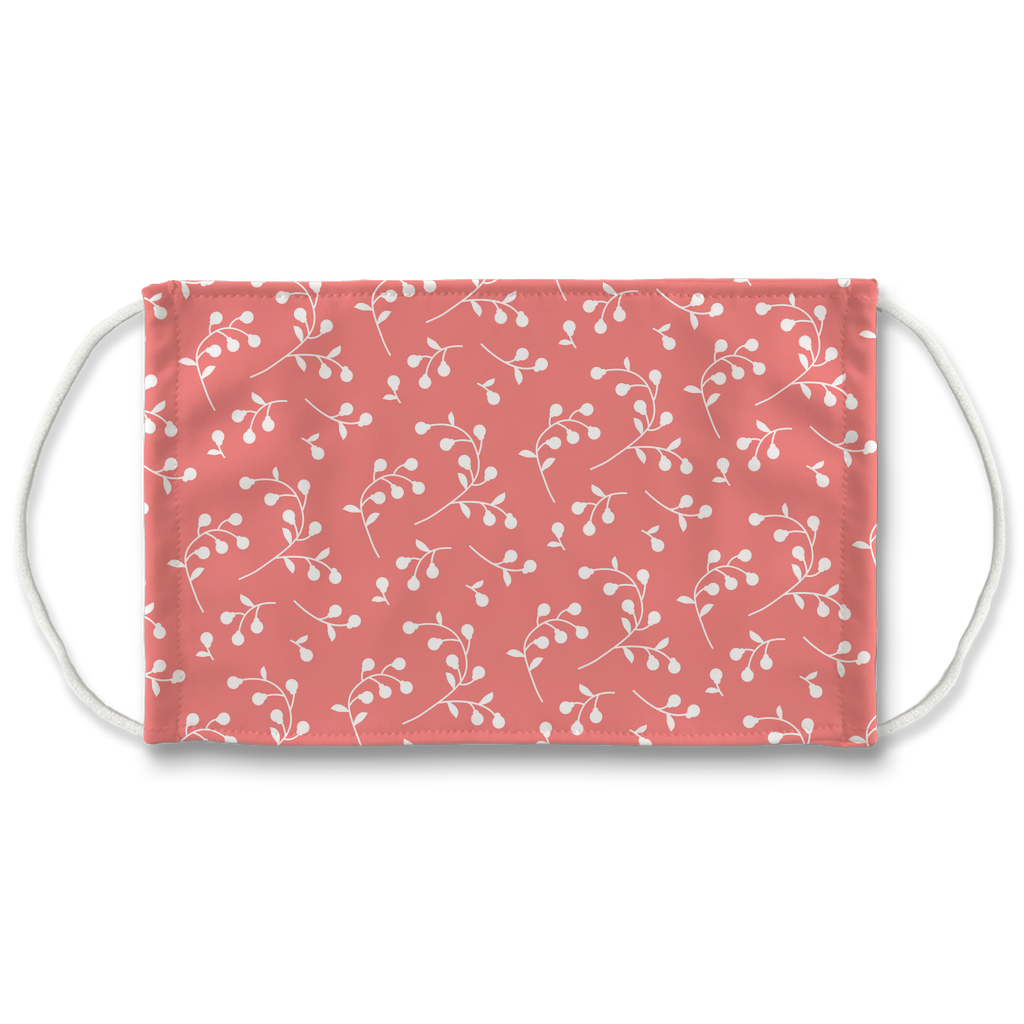 Retro Floral Pattern 5  Face Mask
