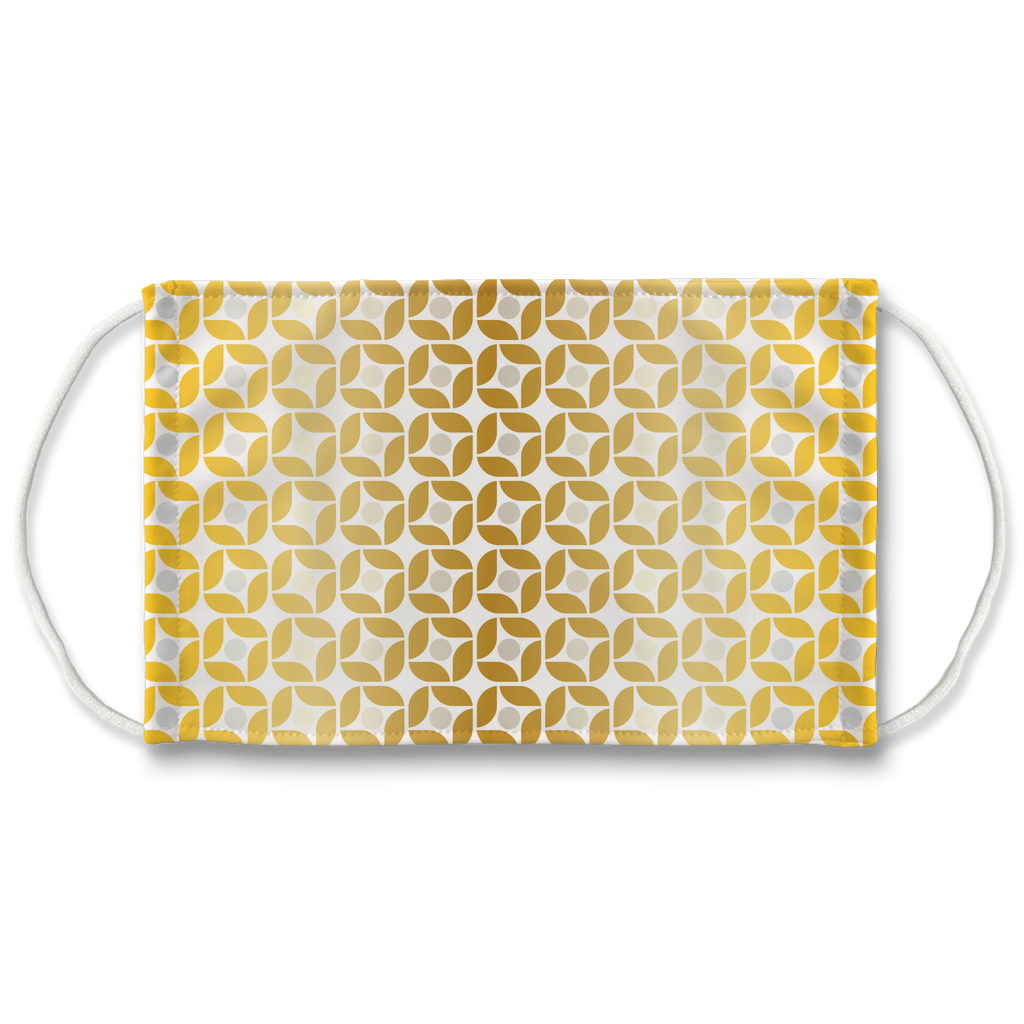 Silver Gold Pattern 9  Face Mask