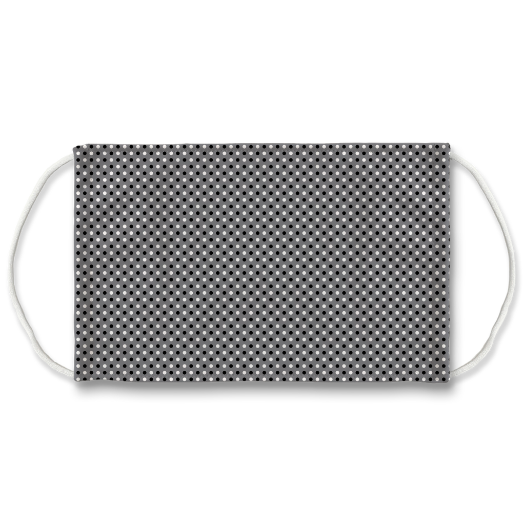 Gray Bandana Pattern 2  Face Mask