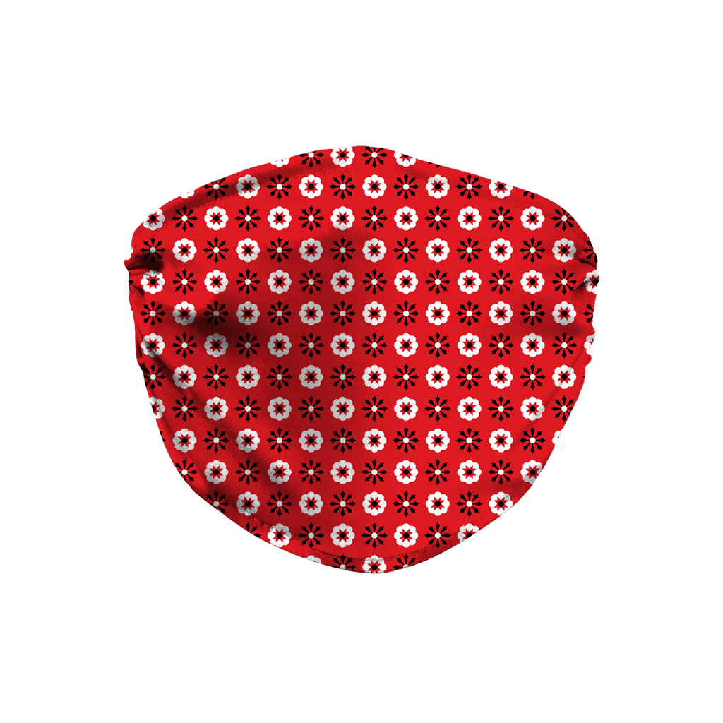 Red Bandana Pattern 7  Face Mask
