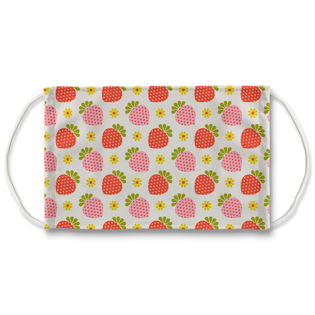 Retro Fruit Flower Pattern 1  Face Mask
