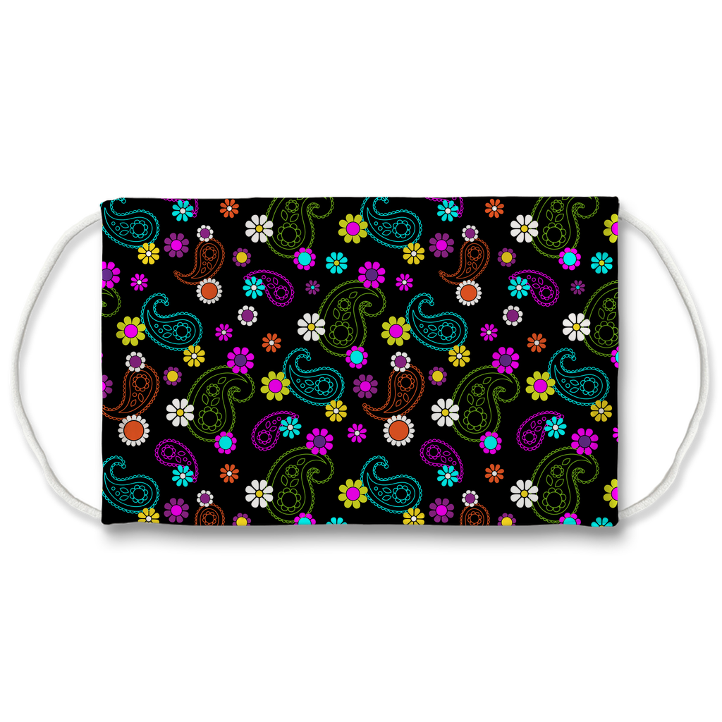Paisley Floral Pattern 10  Face Mask