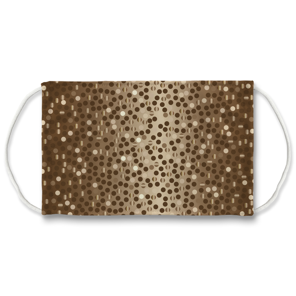 Dots Gradient Background 3  Face Mask