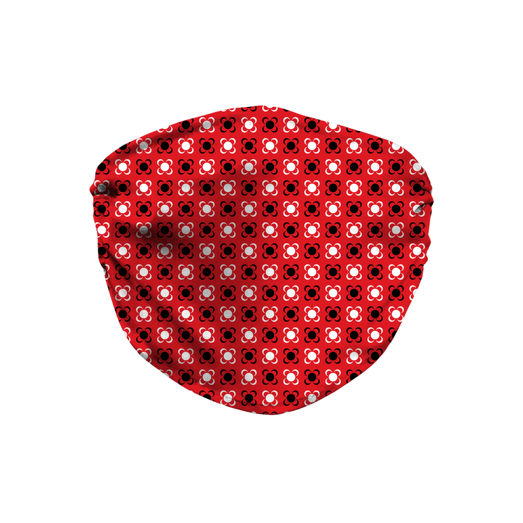 Red Bandana Pattern 1  Face Mask