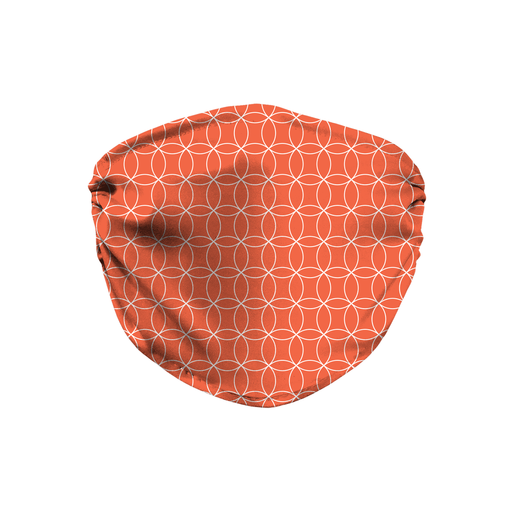 Circle Lattice Pattern 7  Face Mask