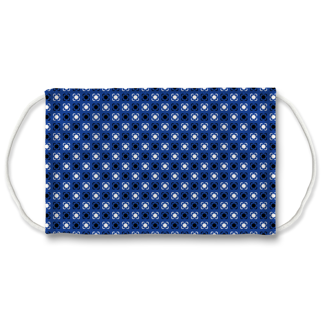 Blue Bandana Pattern 1  Face Mask
