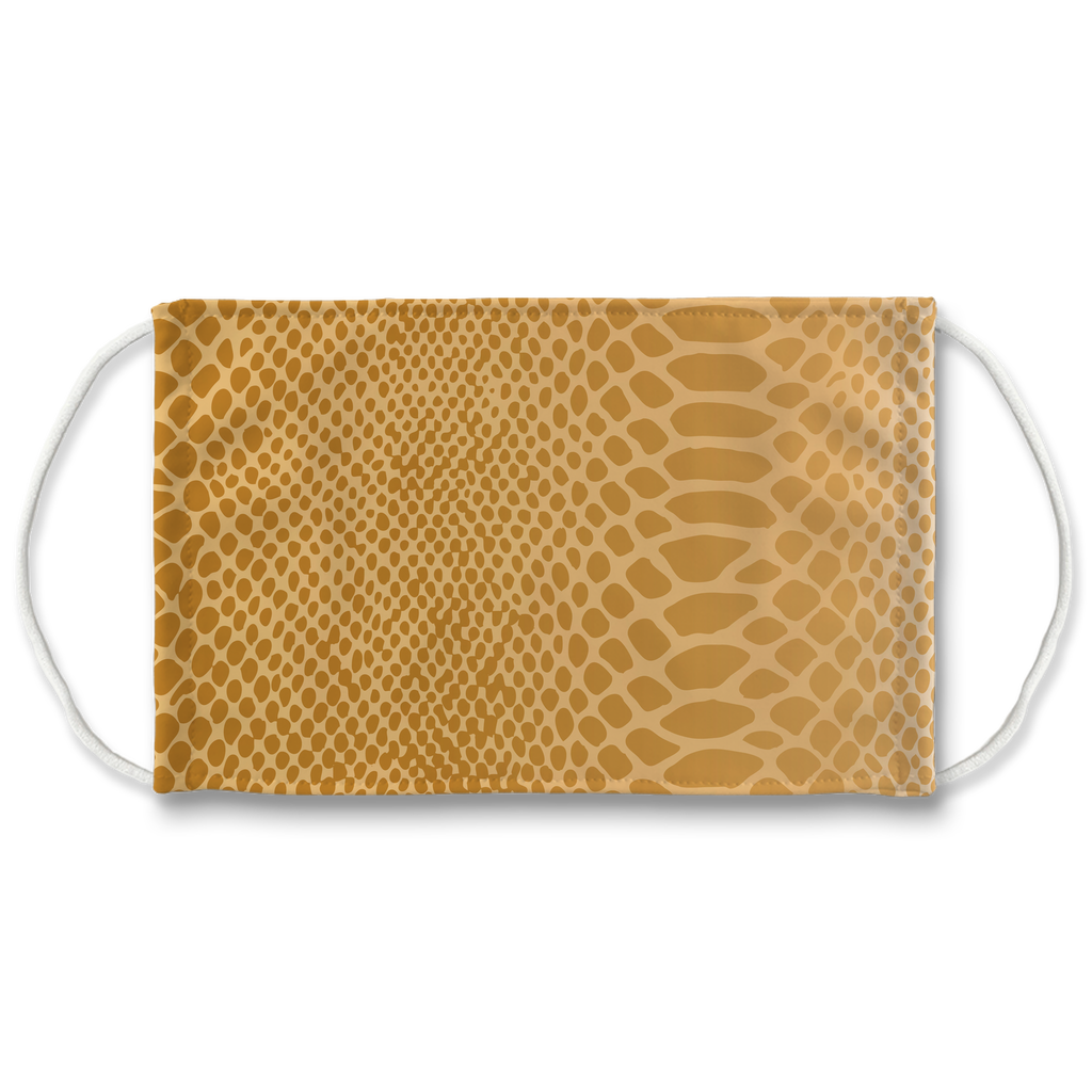 Metallic Snakeskin Texture 6  Face Mask