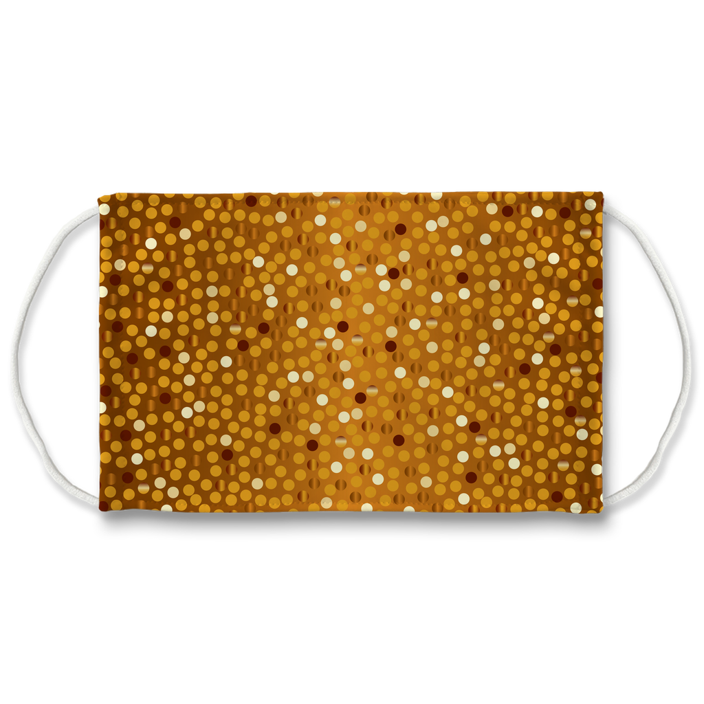 Dots Gradient Background 10  Face Mask