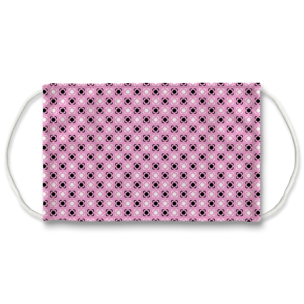 Pink Bandana Pattern 1  Face Mask