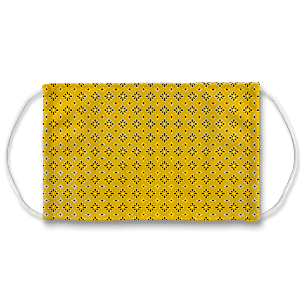 Yellow Bandana Pattern 9  Face Mask