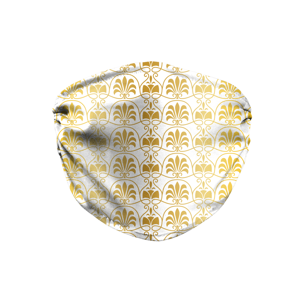 Gold Greek Ornamental Pattern 11  Face Mask