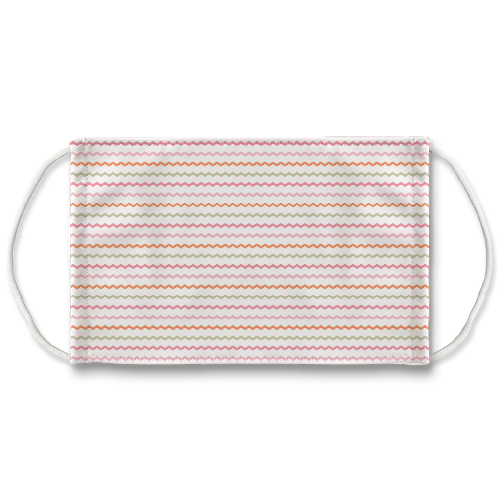Pink and Orange Plaid 1  Face Mask