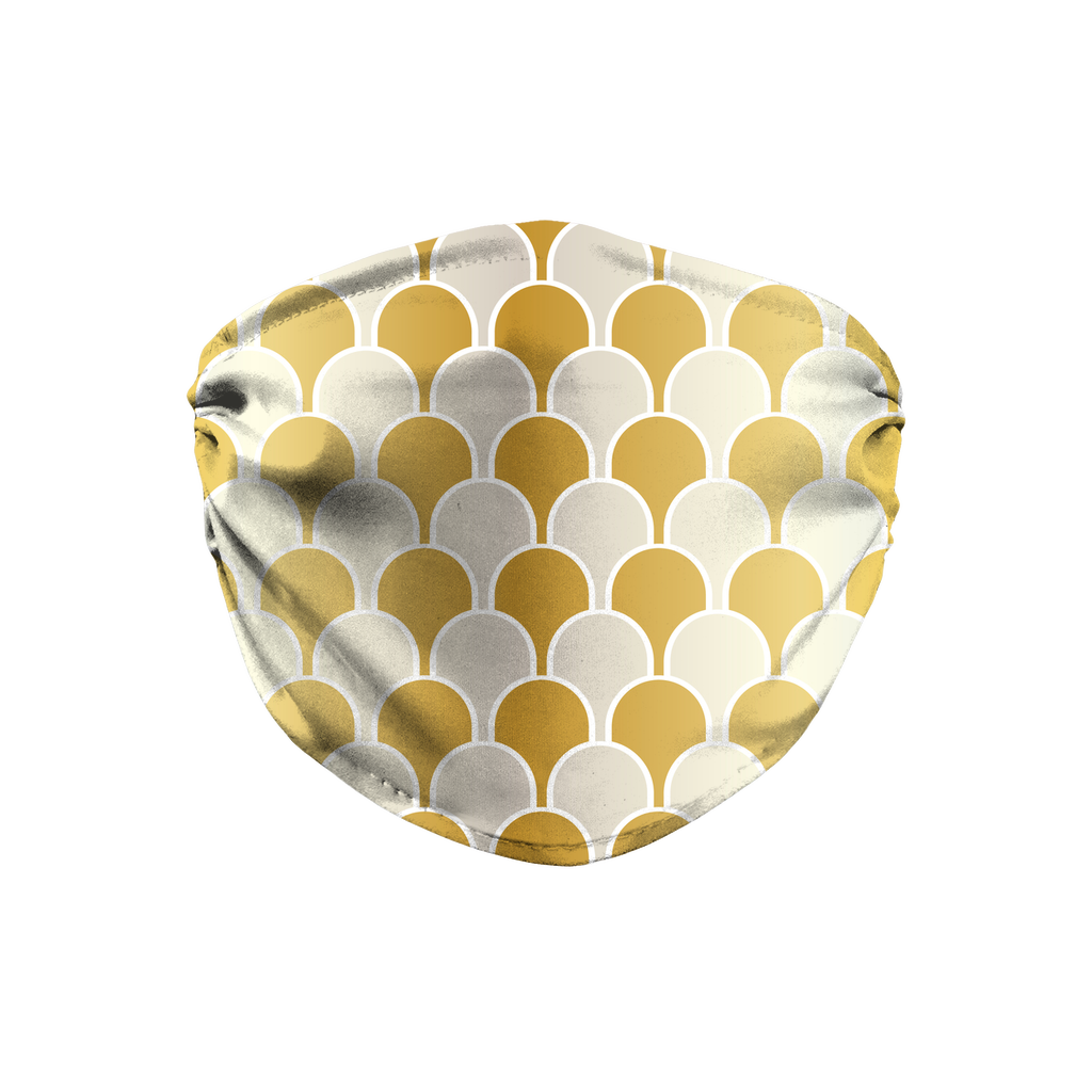 Silver Gold Pattern 10  Face Mask