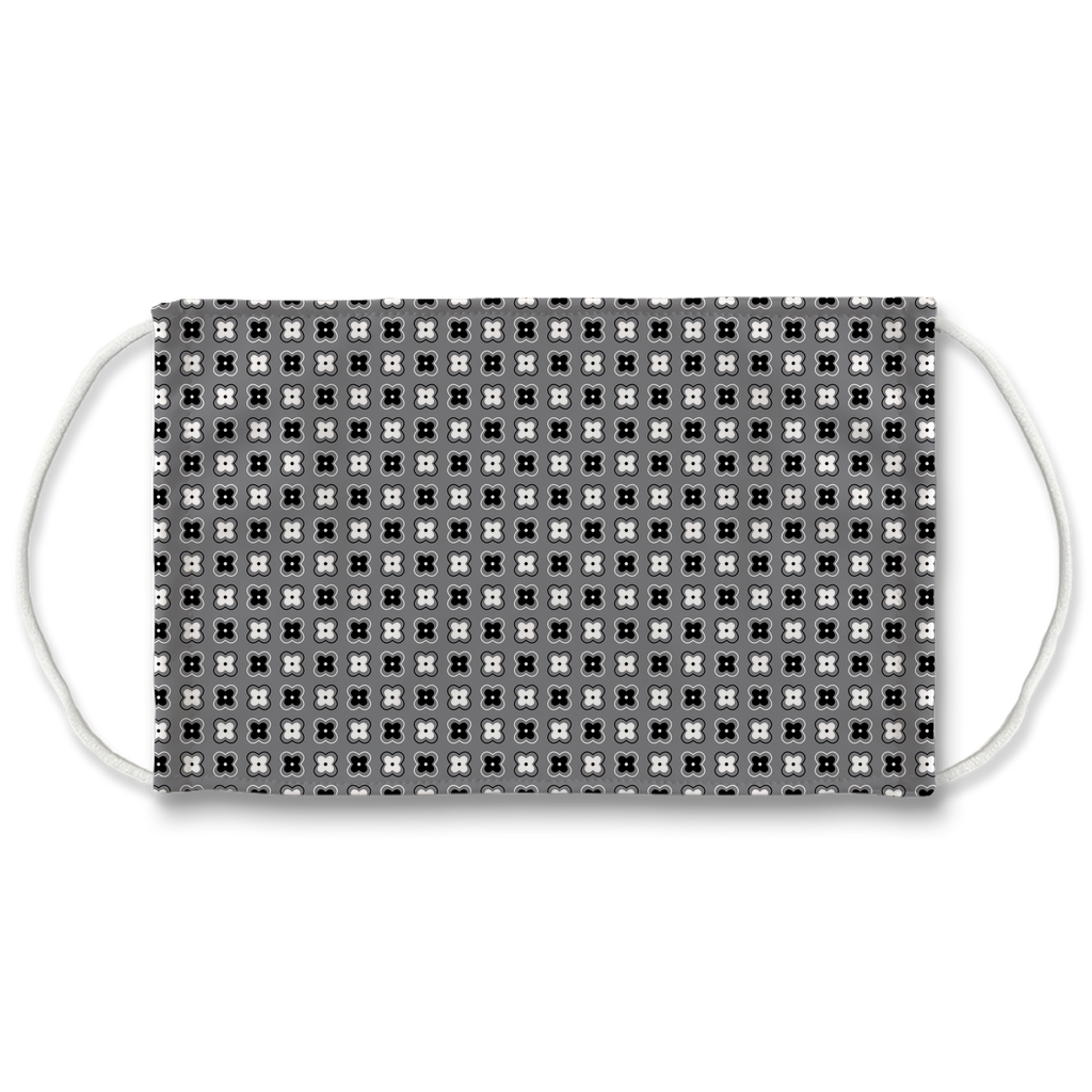 Gray Bandana Pattern 4  Face Mask