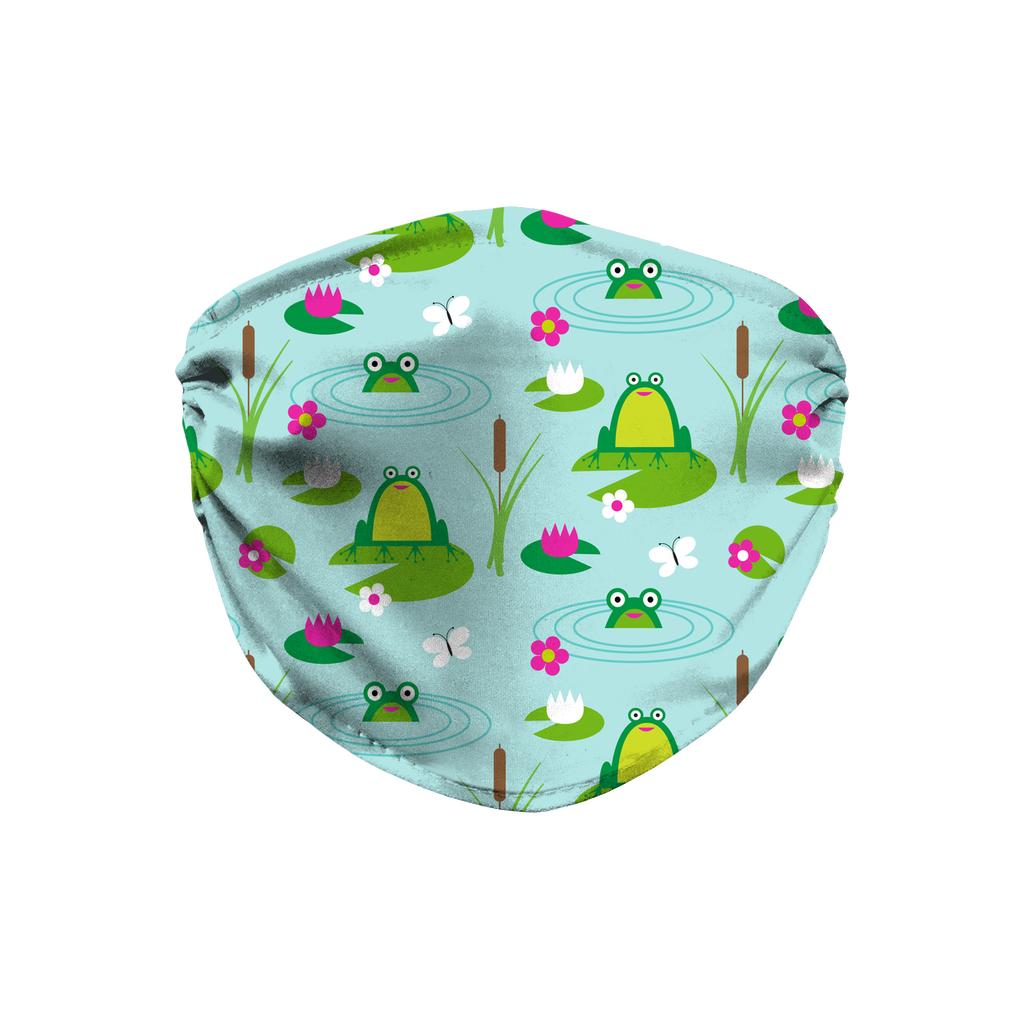 Frog Pattern 5  Face Mask