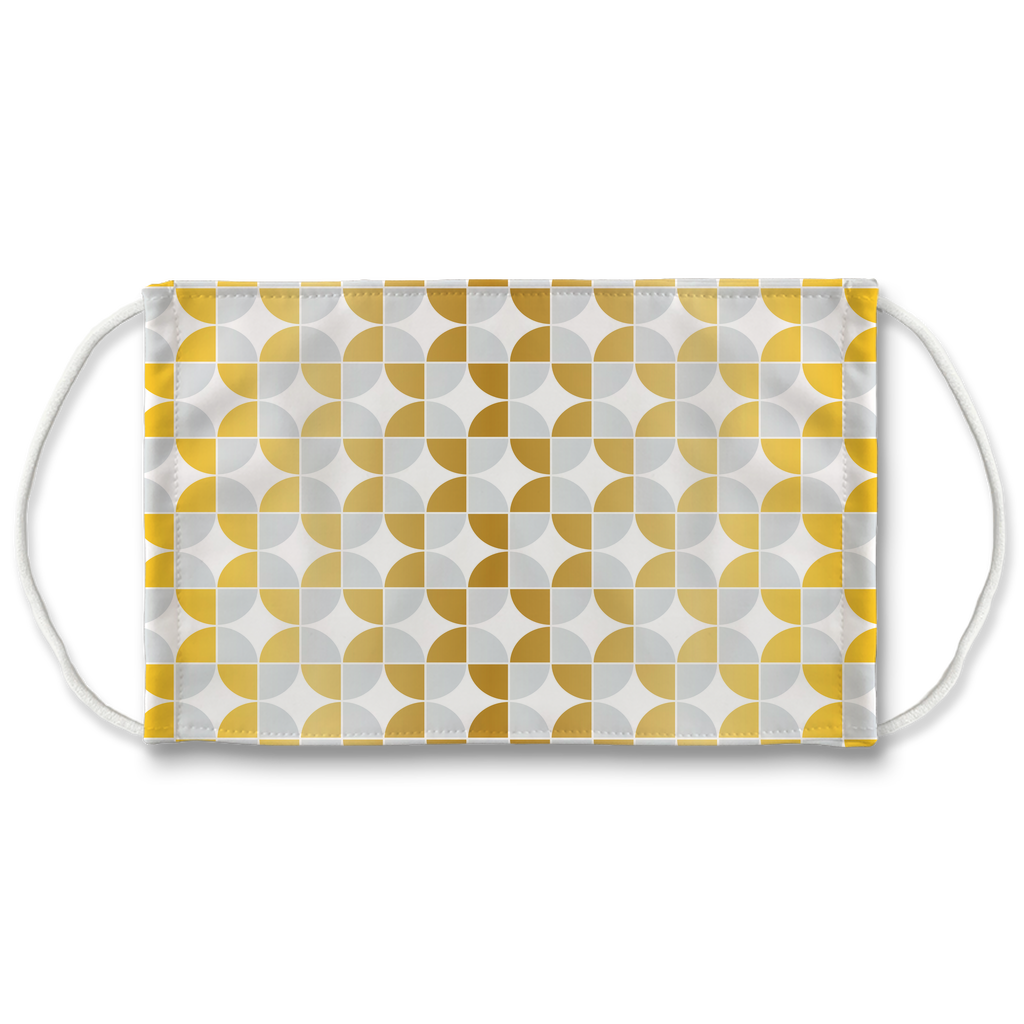 Silver Gold Pattern 12  Face Mask