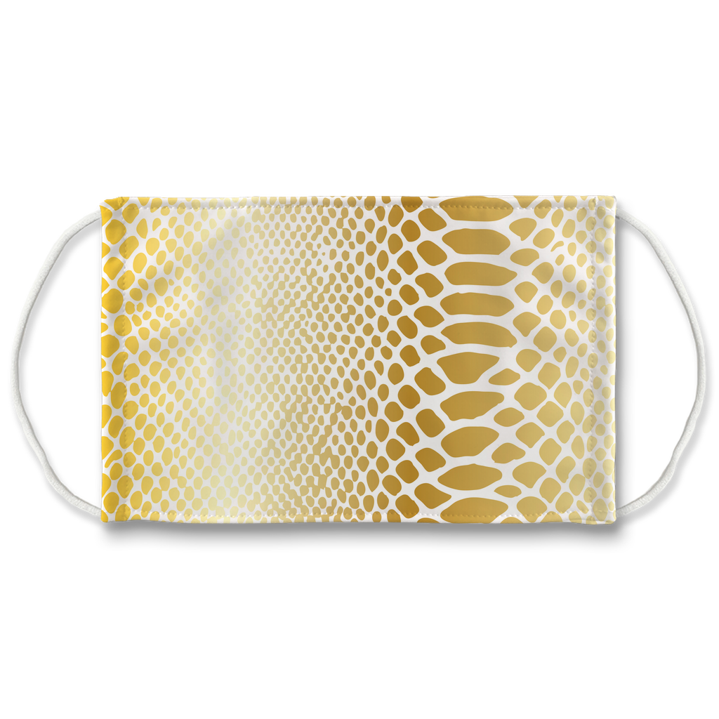 Metallic Snakeskin Texture 1  Face Mask