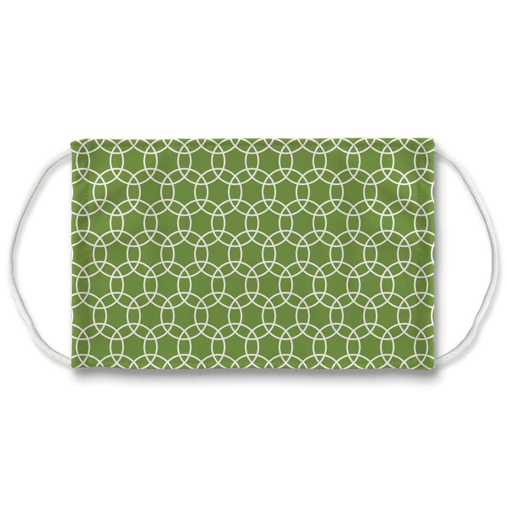 Green Moroccan Pattern 2  Face Mask