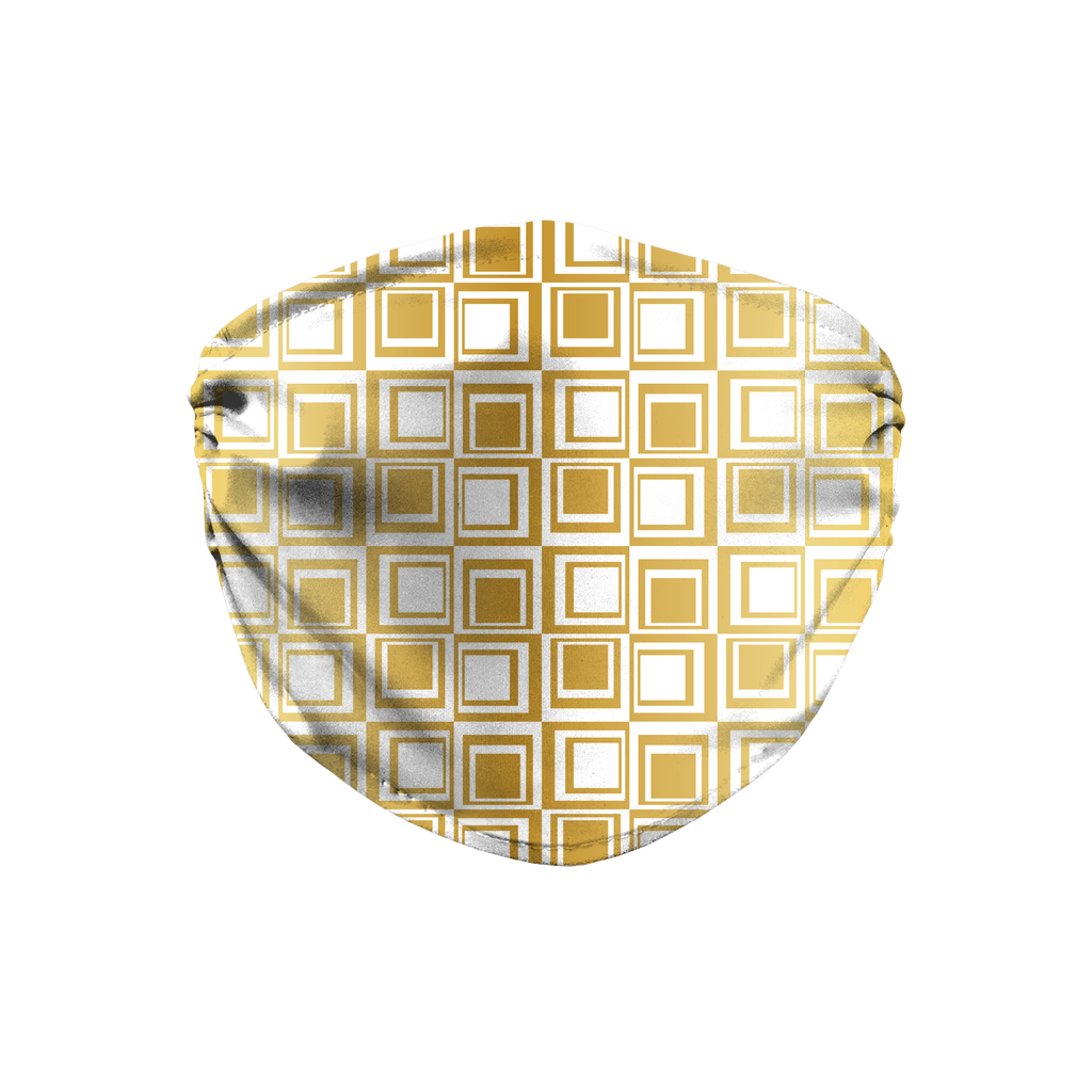 Silver Gold Mod 7  Face Mask