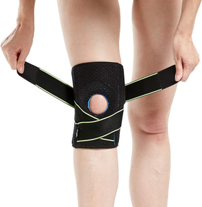 Knee Brace with Side Stabilizers & Patella Gel Pads for Knee Support - Sports & Fitness