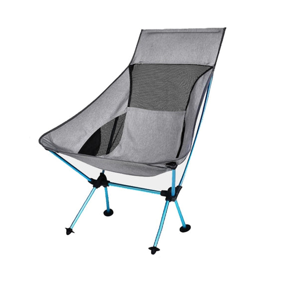 Portable Gray Moon Chair Camping - Outdoor - YourProStore outdoor survival garden house