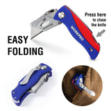 WORKPRO Folding Kinfe with 5PC Blades in Handle- Knife
