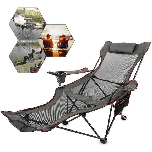 VEVOR Folding Beach Chair Sun Lounger Chair - Outdoor - YourProStore outdoor survival garden house