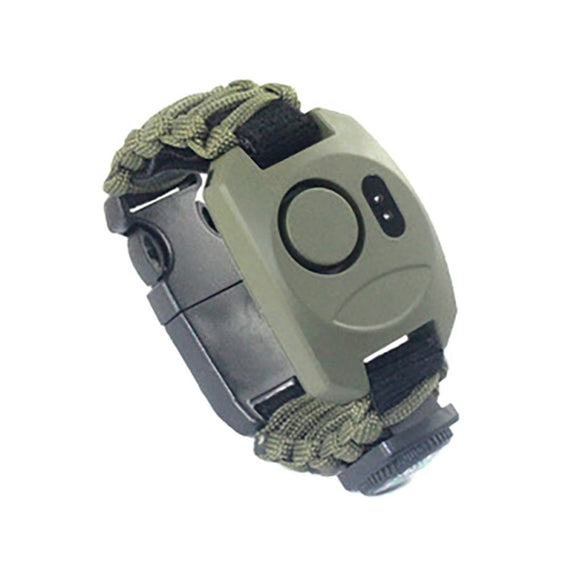Multi-Functional Adventure Survival SOS Emergency Light Bracelet High Decibel Alarm - Survival Watch