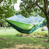 Parachute Fabric Hammock 2 Person Portable - Mosquito Net