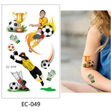 1 Pc Football Kids Temporary Tattoo Sticker Colorful - Kids