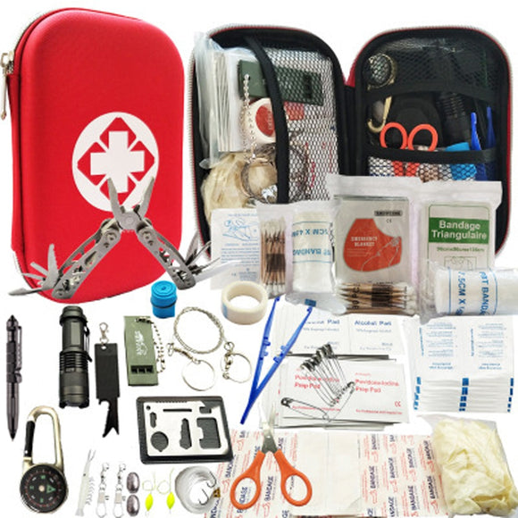 80 in 1 Outdoor Survival Kit Set Camping Multifunction - First Aid Kit