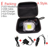Portable mini COB LED Headlamp USB charging - Head Lamp